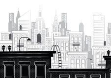 Vectorillustratie van een schets van New York Royalty-vrije Stock Fotografie
