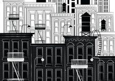 Vectorillustratie van een schets van New York Stock Afbeeldingen