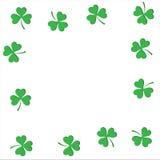 Vectorillustratie van een St Patrick ` s Dagachtergrond Stock Foto's
