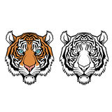 Vectorillustratie van een tijgerhoofd Stock Fotografie
