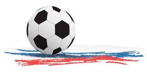Vectorillustratie van een voetbalbal Royalty-vrije Stock Afbeeldingen