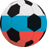 Vectorillustratie van een voetbalbal Royalty-vrije Stock Afbeelding