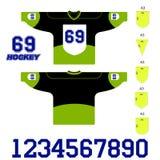 Vectorillustratie van een zwart hockey Jersey Stock Afbeeldingen
