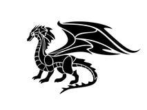 Vectorillustratie van een zwarte draak Royalty-vrije Stock Foto