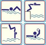 Vectorillustratie van een zwemmerspictogram Royalty-vrije Stock Afbeeldingen