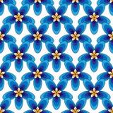 Vectorillustratie van eenvoudig blauw bloemenpatroon Blauwe en violette bloemen royalty-vrije illustratie