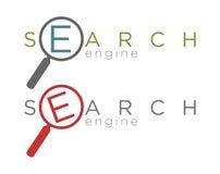 Vectorillustratie van eenvoudige zoekmachinepictogrammen Stock Afbeeldingen