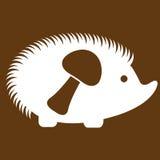 Vectorillustratie van egel op bruin Royalty-vrije Stock Afbeeldingen