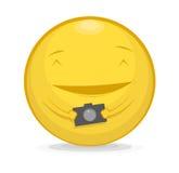 Vectorillustratie van emoticon met fotocamera Royalty-vrije Stock Foto