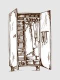 Vectorillustratie van garderobekast stock illustratie