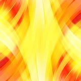 Vectorillustratie van gele, oranje abstracte achtergrond Stock Foto's