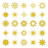 Vectorillustratie van gouden vonken en vonkenelementen Stock Foto's