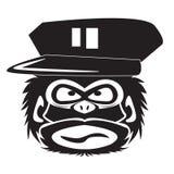 Vectorillustratie van grappige chimpansee op een witte achtergrond stock illustratie