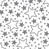 Vectorillustratie van grijze vijf-gerichte sterren op een witte achtergrond vector illustratie