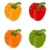 Vectorillustratie van groene paprika's Stock Foto's