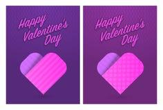Vectorillustratie van groetkaarten voor St Valentijnskaartendag Stock Foto's