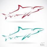 Vectorillustratie van haai Stock Afbeelding