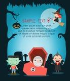 Vectorillustratie van Halloween-monster Gelukkig Halloween Vector Illustratie