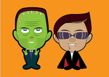 Vectorillustratie van Halloween-monsterkostuum Royalty-vrije Stock Afbeelding