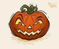 Vectorillustratie van Halloween-pompoen Stock Foto