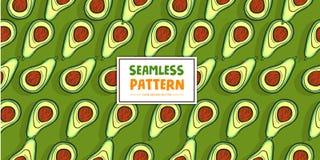 Vectorillustratie van het avocado de Naadloze Patroon stock foto's