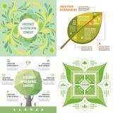 Vectorillustratie van het bedrijfs de infographic malplaatjesconcept Abstracte bannerreeks De lay-outinzameling van de reclamebev stock illustratie