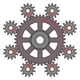 Vectorillustratie van het bestuurderstoestel en de gedreven toestellen vector illustratie