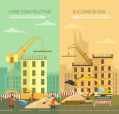 Vectorillustratie van het construeren, de bouw Stock Afbeeldingen