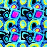 Vectorillustratie van het graffiti de heldere psychedelische naadloze patroon Stock Foto's