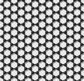Vectorillustratie van het Graphene de transparante naadloze patroon Stock Foto's