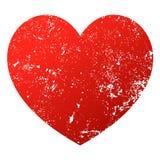 Vectorillustratie van het Grunge de rode hart royalty-vrije illustratie