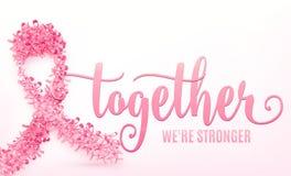 Vectorillustratie van het lint van borstkanker Royalty-vrije Stock Afbeeldingen