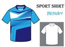 Vectorillustratie van het malplaatje van de voetbalt-shirt Stock Afbeeldingen