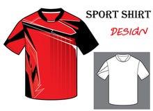 Vectorillustratie van het malplaatje van de voetbalt-shirt Stock Afbeelding