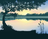 Vectorillustratie van het meer stock illustratie