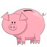 Vectorillustratie van het moneyboxvarken op wit Stock Fotografie