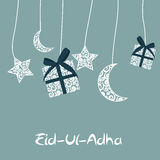 Vectorillustratie van het Mooie Ontwerp 'Eid Adha van de Groetkaart Stock Foto