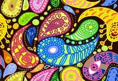 Vectorillustratie van het naadloze patroon van Paisley  Stock Afbeelding
