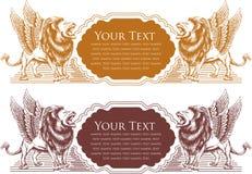 vectorillustratie van het ontwerp van het Leeuwkenteken voor kaart Stock Foto