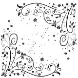 Vectorillustratie van het patroon van de bloemkrul Royalty-vrije Stock Foto