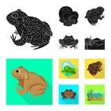 Vectorillustratie van het wild en moerasembleem Reeks van het wild en reptielvoorraad vectorillustratie royalty-vrije illustratie