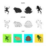 Vectorillustratie van het wild en moeraspictogram Inzameling van het wild en reptielvoorraad vectorillustratie stock illustratie
