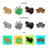 Vectorillustratie van het wild en moerassymbool Reeks van het wild en reptielvoorraad vectorillustratie stock illustratie