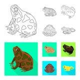 Vectorillustratie van het wild en moerasteken Inzameling van het wild en reptielvoorraad vectorillustratie vector illustratie