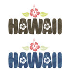 Vectorillustratie van het woord van Hawaï in uitstekende kleuren Stock Afbeelding