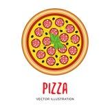 Vectorillustratie van Italiaanse pizza vector illustratie