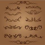 Vectorillustratie van kalligrafische elementen en paginadecoratie Stock Foto's