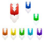 Vectorillustratie van kleuren achtergrondlusje Royalty-vrije Stock Afbeeldingen