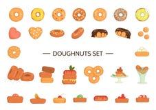 Vectorillustratie van kleurrijke doughnuts royalty-vrije illustratie