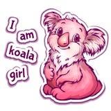 Vectorillustratie van koala in beeldverhaalstijl Stock Foto